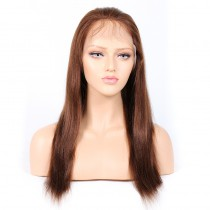 #4/30 Highlight Color Lace Front Wigs Indian Remy Hair Yaki Straight [HLLFW05]