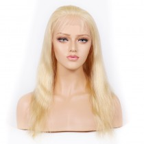 Blonde #613 Color Lace Front Wigs Peruvian Virgin Human Hair Natural Straight[BLLFW03]