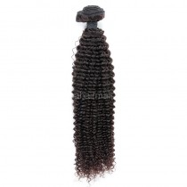 Malaysian virgin human hair wefts Kinky Curly 1 piece a lot unprocessed natural color 95g/pc [MVKC01]