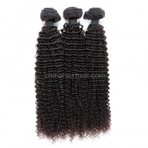 Brazilian virgin unprocessed human hair wefts Kinky Curly 3 pieces a lot Hair Bundles 95g/pc [BVKC03]