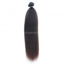 Brazilian virgin human hair wefts Kinky Straight 1 pc a lot unprocessed 95g/pc [BVKS01]