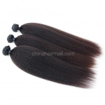 Peruvian virgin unprocessed human hair wefts Natural Color Kinky Straight 3 pieces a lot  Hair Bundles 95g/pc [PVKS03]