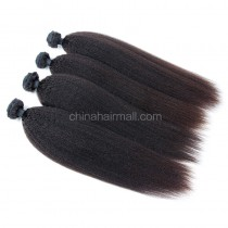 Peruvian virgin unprocessed human hair wefts Natural Color Kinky Straight 4 pieces a lot 95g/pc [PVKS04]