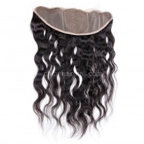 Malaysian Virgin Human Hair Popular 13*4 Lace Frontal with 4*4 Silk Base Natural Wave Natural Hair Line and Baby Hair [MVNWSLF]
