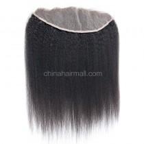 Malaysian Virgin Human Hair 13*4 Popular Lace Frontal Kinky Straight Natural Hair Line and Baby Hair [MVKSLF]