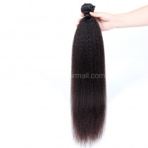 Malaysian virgin human hair wefts Kinky Straight 1 piece a lot unprocessed natural color 95g/pc [MVKS01]