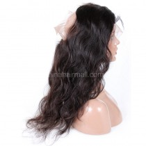 "Indian Remy Hair 360 Lace Frontal Closure 22.5""*4"" Elastic Band Natural Color Body Wave"