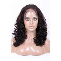 Glueless Full Lace Wigs Brazilian Virgin Hair Wavy [FLW38]