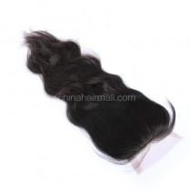 Malaysian Virgin Human Hair 4*4 Popular Lace Closure Natural Wave Natural Hair Line and Baby Hair [MVNWTC]