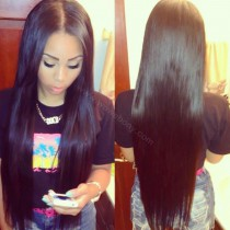Lace Front Wigs Peruvian Virgin Human Hair Straight