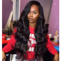 Silk Base 4*4 Full Lace Wigs Indian Human Hair Body Wave