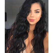 Lace Front Wigs Malaysian Virgin Human Hair Loose Wave