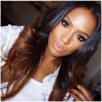 affordable ombre yaki straight lace front wigs