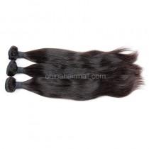 Brazilian virgin unprocessed human hair wefts Natural Straight 3 pieces a lot Hair Bundles 95g/pc [BVNS03]