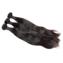 Peruvian virgin unprocessed human hair wefts Natural Color Natural Straight 3 pieces a lot Hair Bundles 95g/pc [PVNS03]