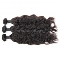 Brazilian virgin unprocessed human hair wefts Natural Wave 3 pieces a lot Hair Bundles 95g/pc [BVNW03]
