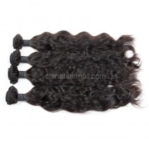 Malaysian virgin unprocessed natural color human hair wefts Natural Wave 4 pieces a lot  95g/pc [MVNW04]