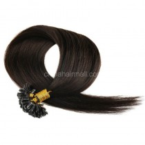 Pre bounded Keratin I/U/nail- tip hair extensions in virgin remy human hair dark brown #2 color 0.5g/piece 100 pieces per pack [PB0.5-2]