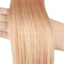 Pre bounded Keratin I/U/nail- tip hair extensions in virgin remy human hair strawberry blonde #27 color 1g/piece 100 pieces per pack [PB1-27]