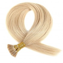 Pre bounded Keratin I/U/nail- tip hair extensions in virgin remy human hair honey blonde #24 color 0.5g/piece 100 pieces per pack [PB0.5-24]