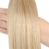 Pre bounded Keratin I/U/nail- tip hair extensions in virgin remy human hair honey blonde #24 color 1g/piece 100 pieces per pack [PB1-24]