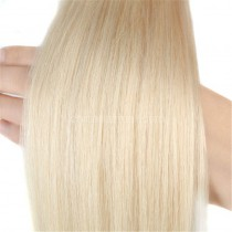Pre bounded Keratin I/U/nail- tip hair extensions in virgin remy human hair bleach blonde #613 color 1g/piece 100 pieces per pack [PB1-613]