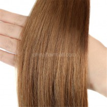 Pre bounded Keratin I/U/nail- tip hair extensions in virgin remy human hair light golden brown #10 color 1g/piece 100 pieces per pack [PB1-10]