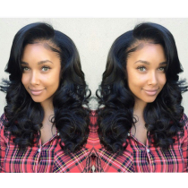 Full Lace Wigs Brazilian Virgin Hair Wavy