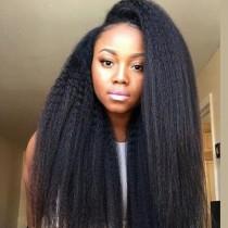 Glueless Full Lace Wigs Peruvian Virgin Hair Kinky Straight
