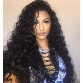 WowEbony Indian Remy Hair Curly Lace Front Wigs [LFW098]