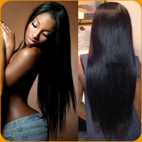 Full Lace Wigs Brazilian Virgin Hair Yaki Straight In Stock [FW29]