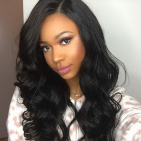 WoWEbony Transparent Invisible HD Lace Virgin Hair Super Wavy13X6 Lace Front Wigs [HDW02]