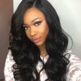 WowEbony Indian Remy Hair Super Wavy Lace Wigs [360SW02]