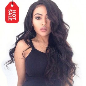 WowEbony Super Wavy 360 Lace Wigs 150% density, Indian Remy Hair [360SW01]
