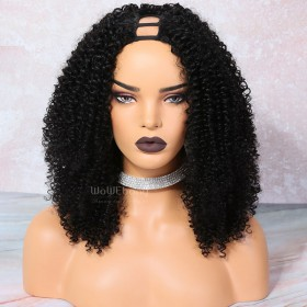 WowEbony Textured Afro Curly U Part Wigs for  3b and 3c textures[UPT7]
