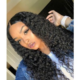 WowEbony Indian Remy Hair Brazilian Curly 360 Lace Wigs [N360BC01]