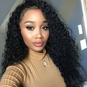 WowEbony Glueless Full Lace Wigs Malaysian Virgin Hair Brazilian Curl [FLW46]