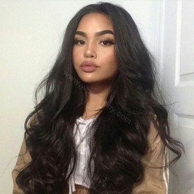 Lace Front Wigs Indian Remy Hair Super Body Wave [LFW026]