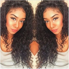 WowEbony Glueless Full Lace Wigs Malaysian Virgin Hair Loose Curly [FLW45]