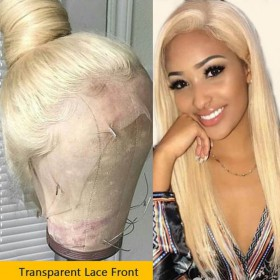 Same Day Shipping WowEbony Human Hair Blonde #613 Color Glueless Lace Wigs [Miya]