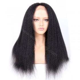 WowEbony Italian Yaki Straight Glueless Silk Part Lace Wig Indian Remy Hair [SPLW05]