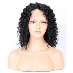 WowEbony Curly Glueless Silk Part Lace Wig Indian Remy Hair [SPLW03]