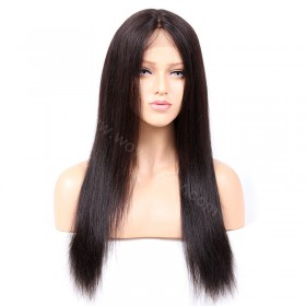 WowEbony Light Yaki Glueless Silk T Part Lace Wig Indian Remy Hair [SPLW06]