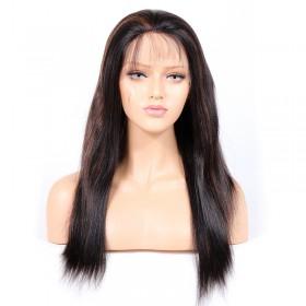 WowEbony #1B/30 Highlight Color Glueless Full Lace Wigs Indian Virgin Hair Light Yaki [GHLFW03]