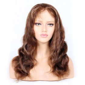 #4/27 Highlight Color Full Lace Wigs Indian Virgin Hair Body Wave [HLFW01]