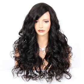 {+15 preparing days) 4.5inch Deep Part Lace Front Wigs Indian Remy Hair Sexy Body Wave [IR4.5DPLFWSBW]