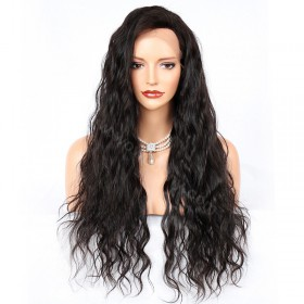WowEbony 4.5 Inches Deep Part Natural Wave Lace Front Wigs Indian Remy Hair [IR4.5DPLFWNW]