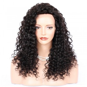 WowEbony Sexy Messy Wave Lace Front Wigs Indian Remy Hair, 4.5 inch Deep Part [IR4.5DPLFWMW]