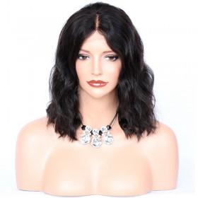 WowEbony Malaysian Virgin Human Hair Bob Wave Lace Front Wigs [LFW067]
