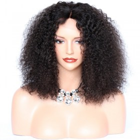 WowEbony Glueless Full Lace Wigs Indian Remy Hair tight Curly [FLW19]